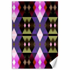 Geometric Abstract Background Art Canvas 12  X 18