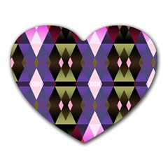 Geometric Abstract Background Art Heart Mousepads