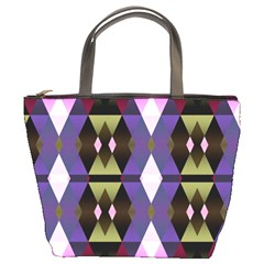 Geometric Abstract Background Art Bucket Bags