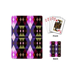 Geometric Abstract Background Art Playing Cards (mini)