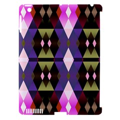 Geometric Abstract Background Art Apple iPad 3/4 Hardshell Case (Compatible with Smart Cover)
