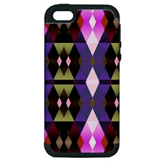 Geometric Abstract Background Art Apple iPhone 5 Hardshell Case (PC+Silicone)