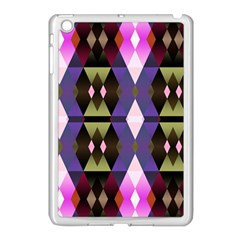 Geometric Abstract Background Art Apple iPad Mini Case (White)