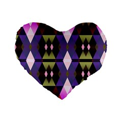 Geometric Abstract Background Art Standard 16  Premium Heart Shape Cushions