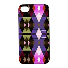 Geometric Abstract Background Art Apple Iphone 4/4s Hardshell Case With Stand