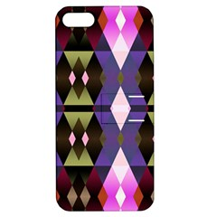 Geometric Abstract Background Art Apple iPhone 5 Hardshell Case with Stand