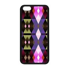 Geometric Abstract Background Art Apple iPhone 5C Seamless Case (Black)