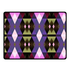 Geometric Abstract Background Art Double Sided Fleece Blanket (small)