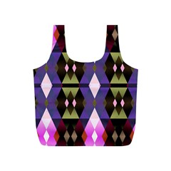 Geometric Abstract Background Art Full Print Recycle Bags (S)