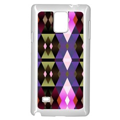 Geometric Abstract Background Art Samsung Galaxy Note 4 Case (White)