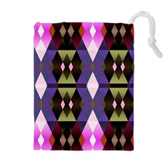 Geometric Abstract Background Art Drawstring Pouches (extra Large)