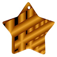 Fractal Background With Gold Pipes Ornament (Star)