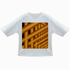 Fractal Background With Gold Pipes Infant/toddler T Shirts