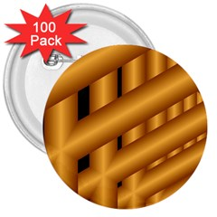 Fractal Background With Gold Pipes 3  Buttons (100 Pack)