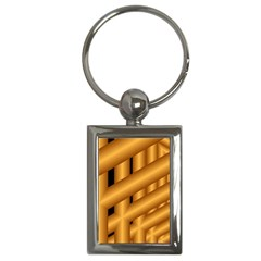 Fractal Background With Gold Pipes Key Chains (Rectangle)