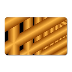 Fractal Background With Gold Pipes Magnet (Rectangular)