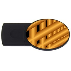 Fractal Background With Gold Pipes Usb Flash Drive Oval (2 Gb)