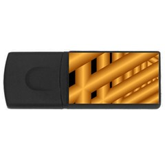 Fractal Background With Gold Pipes USB Flash Drive Rectangular (2 GB)