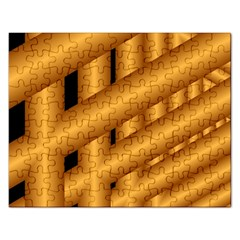 Fractal Background With Gold Pipes Rectangular Jigsaw Puzzl