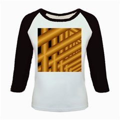 Fractal Background With Gold Pipes Kids Baseball Jerseys