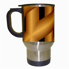 Fractal Background With Gold Pipes Travel Mugs (White)