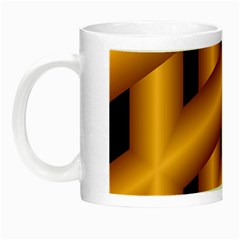 Fractal Background With Gold Pipes Night Luminous Mugs