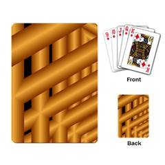 Fractal Background With Gold Pipes Playing Card