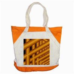 Fractal Background With Gold Pipes Accent Tote Bag