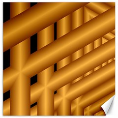 Fractal Background With Gold Pipes Canvas 12  X 12