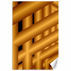 Fractal Background With Gold Pipes Canvas 24  X 36