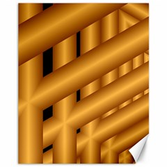 Fractal Background With Gold Pipes Canvas 11  X 14