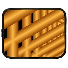 Fractal Background With Gold Pipes Netbook Case (large)