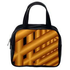 Fractal Background With Gold Pipes Classic Handbags (one Side)