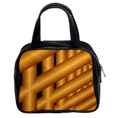 Fractal Background With Gold Pipes Classic Handbags (2 Sides)