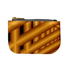 Fractal Background With Gold Pipes Mini Coin Purses