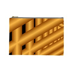 Fractal Background With Gold Pipes Cosmetic Bag (large)