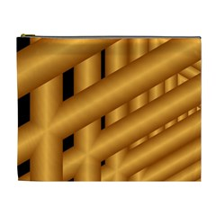 Fractal Background With Gold Pipes Cosmetic Bag (xl)