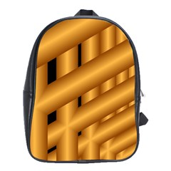 Fractal Background With Gold Pipes School Bags(large)