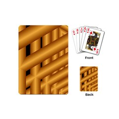 Fractal Background With Gold Pipes Playing Cards (mini)