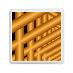 Fractal Background With Gold Pipes Memory Card Reader (square)