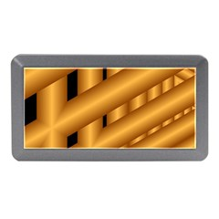 Fractal Background With Gold Pipes Memory Card Reader (Mini)