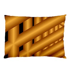 Fractal Background With Gold Pipes Pillow Case (Two Sides)