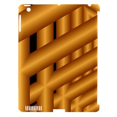 Fractal Background With Gold Pipes Apple iPad 3/4 Hardshell Case (Compatible with Smart Cover)