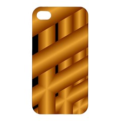 Fractal Background With Gold Pipes Apple iPhone 4/4S Premium Hardshell Case