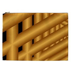 Fractal Background With Gold Pipes Cosmetic Bag (XXL)