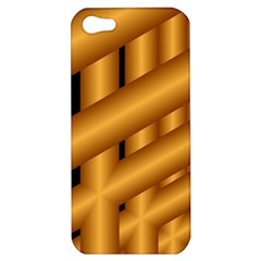 Fractal Background With Gold Pipes Apple iPhone 5 Hardshell Case