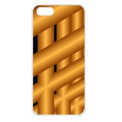 Fractal Background With Gold Pipes Apple Iphone 5 Seamless Case (white)