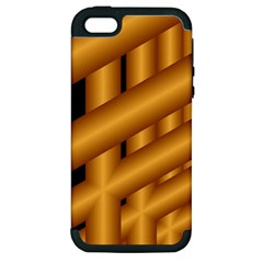 Fractal Background With Gold Pipes Apple iPhone 5 Hardshell Case (PC+Silicone)