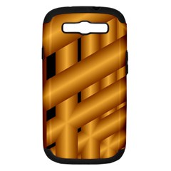 Fractal Background With Gold Pipes Samsung Galaxy S III Hardshell Case (PC+Silicone)
