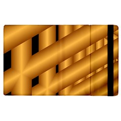 Fractal Background With Gold Pipes Apple iPad 2 Flip Case